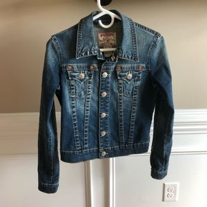 True Religion Emily stretch denim jacket